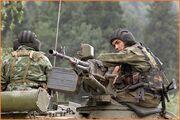 Siberian soldiers in Ural Territory