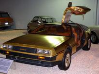 Gold DeLorean, open