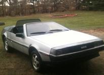 DeLorean convertible