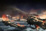 New York shelled