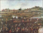 Veduta z obléhání Brna Švédy v roce 1645