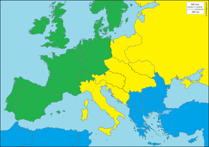 Map of Europe 1972