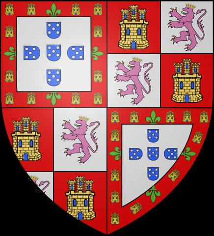 File:COA king Nuno I of Portugal PMII.png