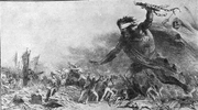 March of Russian barbarity and cholera epidemic to Europe (French allegory)