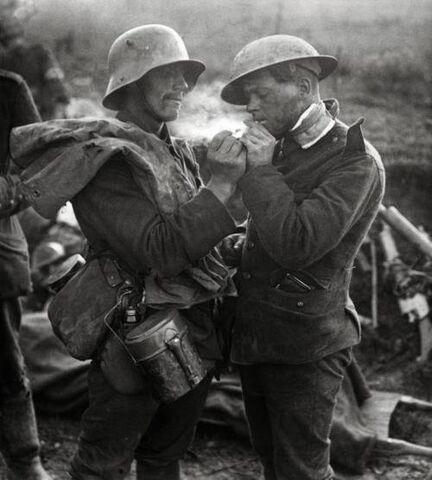 File:That WWI Feel. A German prisoner of war lights the 89fd60 3749215.jpg