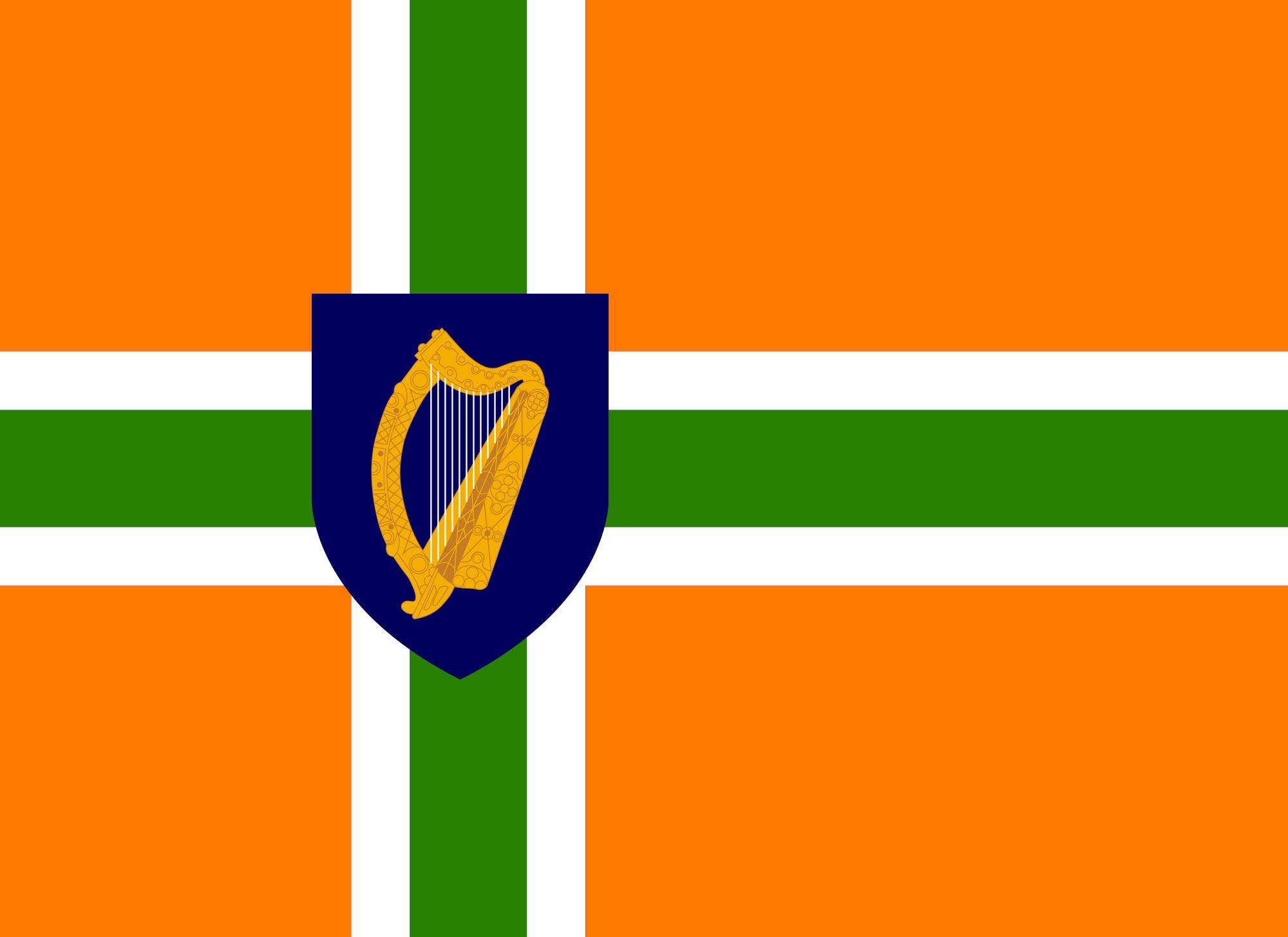 image irish nordic cross flag png alternative history fandom