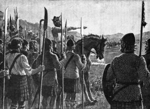 Battle of Bannockburn - Bruce addresses troops