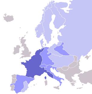 Europe map Napoleon Blocus