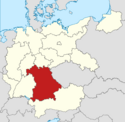 Locator map Bavaria in Germany (IM)