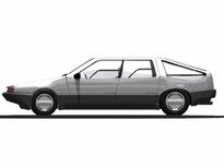DeLorean S-1 series sedan side profile