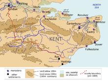 Kingdom of Kent Map