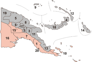Papua new guinea provinces (numbers)