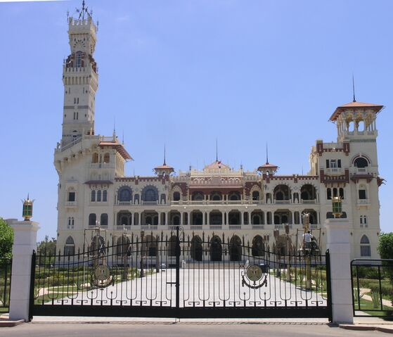 File:Alexandria - Montaza Palace - front view.jpg