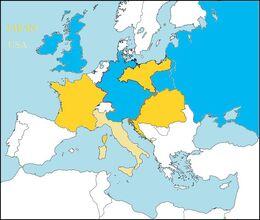 Europe at war(Austrian Germany)