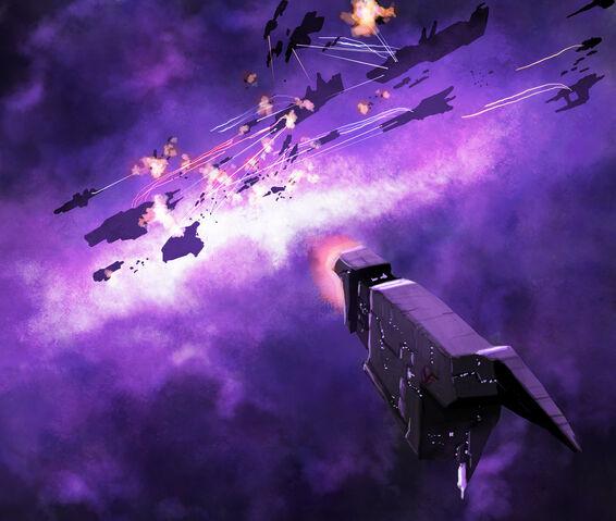 File:Space battle in purple by deepchrome-d303hv8.jpg