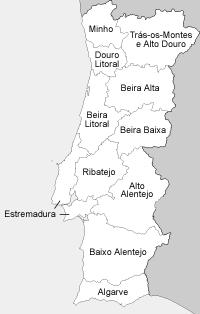 Provincias Portugal legenda