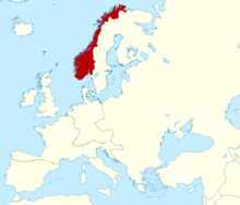 Map of Kingdom of Norway