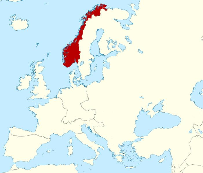 image map of kingdom of norway alternative history