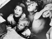 RIAN archive 137811 Children during air raid