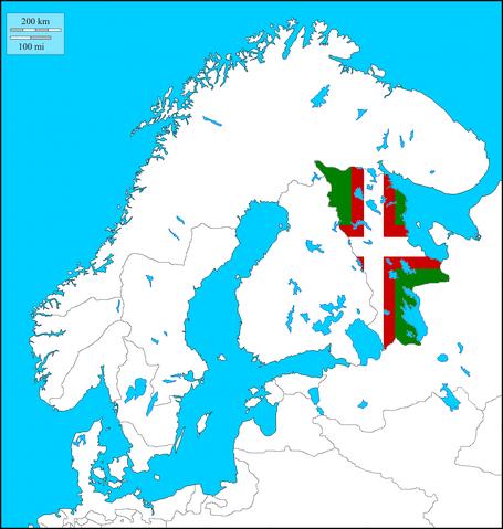 File:Karelia w. Flag (The Kalmar Union).png