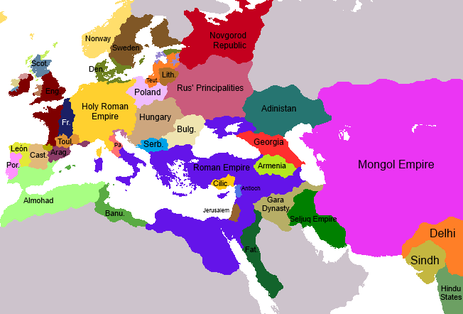 Mongol Invasion Europe Map
