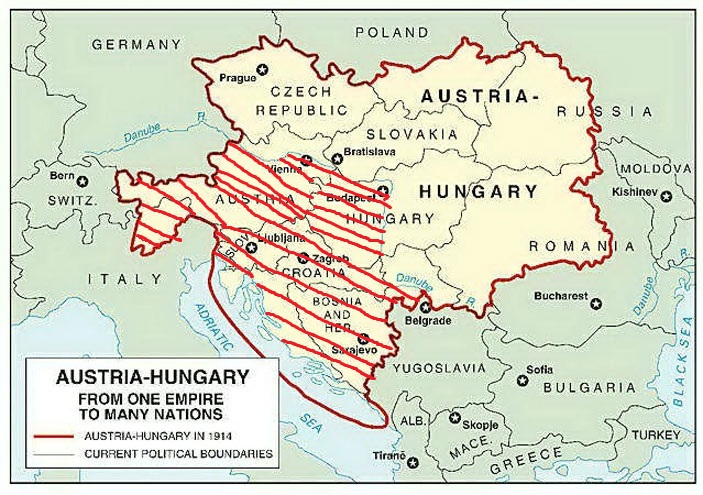 Image World War I Austriahungary Mapjpg - World map austria