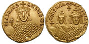 Solidus-Basil I with Constantine and Eudoxia-sb1703