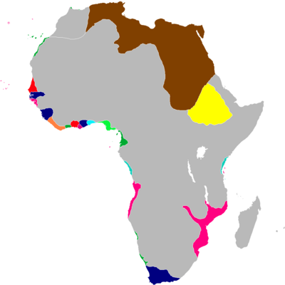 Scramble for Africa Map 1834