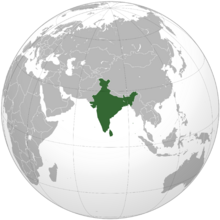 India (orthographic projection-Arrival)