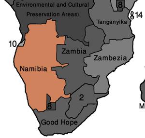 Map Namibia (VegWorld)