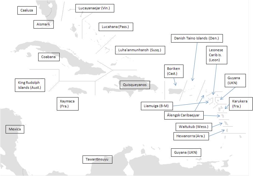Map of Caribbean (The Kalmar Union)
