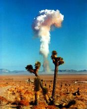 Atmosphere nuclear bomb test desert