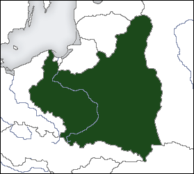 Location of the Second Polish Republic