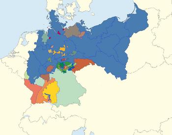 Map of CV Germany 1918-1945