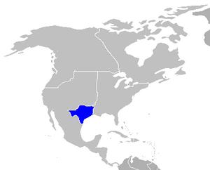Northamerica map highlight texas