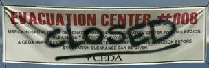 Vandalized CEDA banner