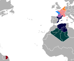 Map of Allied Occupied France (Satomi Maiden ~ Third Power).png