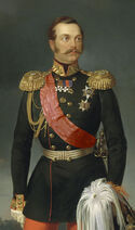 Alexander II by E.Botman (1856, Russian museum) Red sash cropped