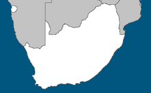 Location of South Africa (Alternative 2014)