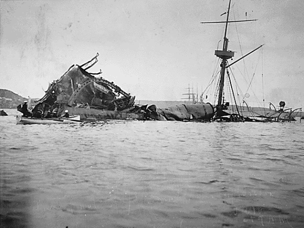 File:Sinking of the USS Aroostook.jpg