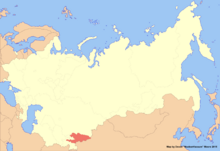Location of Kyrgyzstan (New Union)