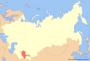 Location of Uzbekistan (New Union)