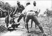 Japanese interrogating prisoner