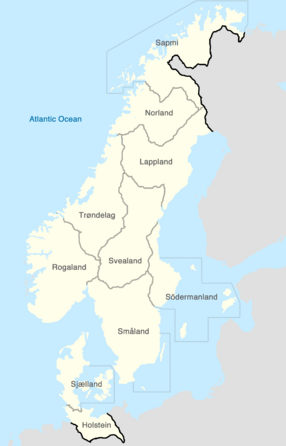 Denmark-Sweden Map-0