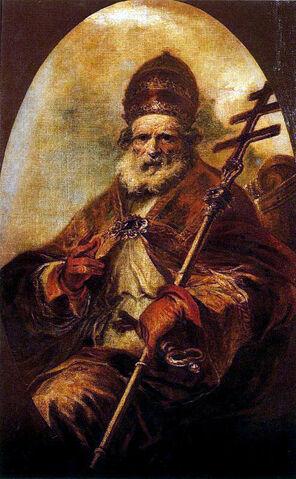 File:Herrera mozo San León magno Lienzo. Óvalo. 164 x 105 cm. Museo del Prado.jpg