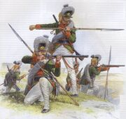 Welsh soldiers in action in the Napoleonic Wars
