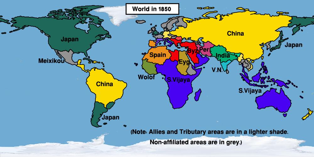 Timeline 1800s Easternized World Alternative History FANDOM powered by
