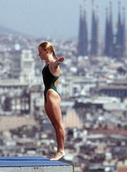 Barcelona Olympics 1992 Guernica in background.