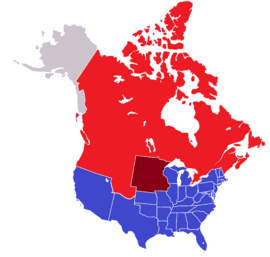 USA and Canada, 1860
