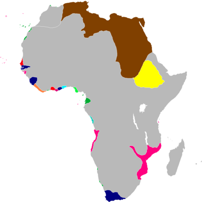 Scramble for Africa Map 1829